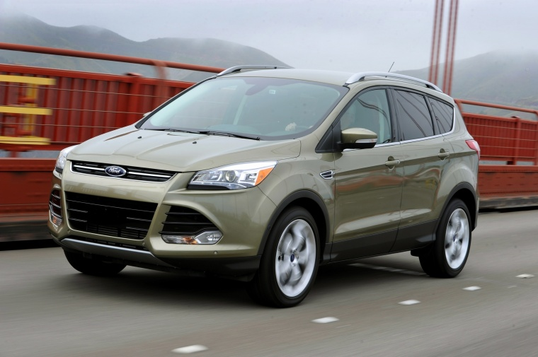 Driving 2016 Ford Escape Titanium 4WD from a front left three-quarter view