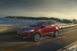2018 Ford Escape Titanium in Ruby Red Metallic Tinted Clearcoat - Driving Front Left Three-quarter View