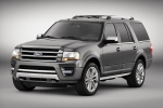 Picture of a 2016 Ford Expedition Platinum in Magnetic Metallic from a front left three-quarter perspective