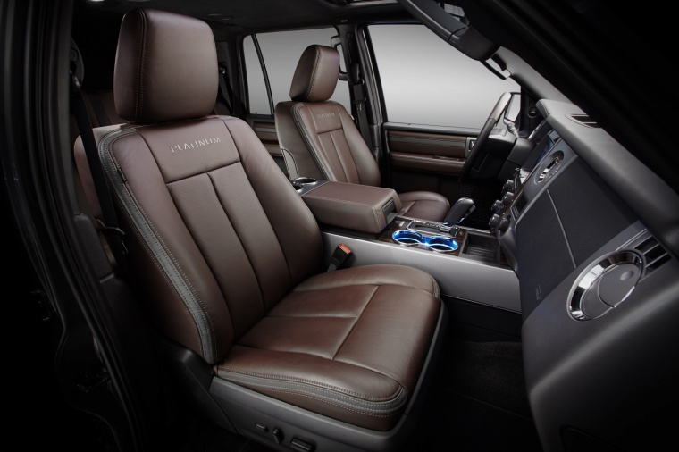 Picture of a 2017 Ford Expedition Platinum's Front Seats