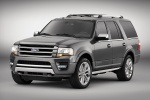 Picture of a 2017 Ford Expedition Platinum in Magnetic Metallic from a front left three-quarter perspective