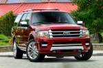 Picture of a 2017 Ford Expedition Platinum in Ruby Red Metallic Tinted Clearcoat from a frontal perspective