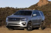 2019 Ford Expedition XLT FX4 in Silver Spruce Metallic from a front left view
