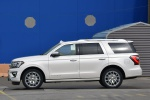 Picture of a 2019 Ford Expedition Platinum in Oxford White from a left side perspective