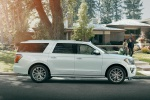 Picture of a 2019 Ford Expedition Max Platinum in Oxford White from a right side perspective