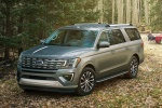 Picture of a 2019 Ford Expedition Max Limited in Stone Gray Metallic from a front left three-quarter perspective