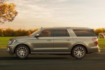 Picture of a 2019 Ford Expedition Max Platinum in Stone Gray Metallic from a left side perspective