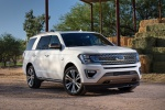 Picture of a 2020 Ford Expedition King Ranch in Star White Metallic Tri-Coat from a front right perspective