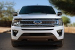 Picture of a 2020 Ford Expedition King Ranch in Star White Metallic Tri-Coat from a frontal perspective