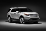 2012 Ford Explorer Limited 4WD in White Suede - Static Front Right Three-quarter View