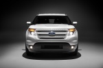 2012 Ford Explorer Limited 4WD in White Suede - Static Frontal View