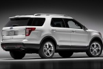 2013 Ford Explorer Limited 4WD in White Suede - Static Rear Right Three-quarter View