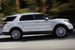 2013 Ford Explorer Limited 4WD in White Suede - Driving Right Side View