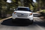 2013 Ford Explorer Limited 4WD in White Suede - Driving Frontal View