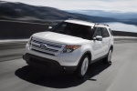 2013 Ford Explorer Limited 4WD in White Suede - Driving Front Left View