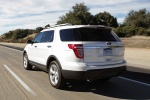 2013 Ford Explorer Limited 4WD in White Suede - Driving Rear Left View