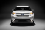 2013 Ford Explorer Limited 4WD in White Suede - Static Frontal View