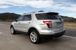 2013 Ford Explorer Limited 4WD in Ingot Silver Metallic - Driving Rear Left Three-quarter View