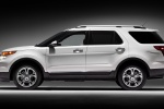 2013 Ford Explorer Limited 4WD in White Suede - Static Left Side View