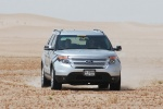 2013 Ford Explorer Limited 4WD in Ingot Silver Metallic - Driving Frontal View