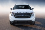 2013 Ford Explorer Sport 4WD in White Platinum Metallic Tri-Coat - Static Frontal View