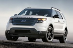 2013 Ford Explorer Sport 4WD in White Platinum Metallic Tri-Coat - Static Front Left View