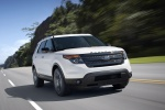 2013 Ford Explorer Sport 4WD in White Platinum Metallic Tri-Coat - Driving Front Right View