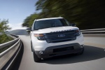 2013 Ford Explorer Sport 4WD in White Platinum Metallic Tri-Coat - Driving Frontal View