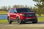 2013 Ford Explorer Sport 4WD in Ruby Red Metallic Tinted Clearcoat - Static Front Right View