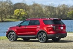 2013 Ford Explorer Sport 4WD in Ruby Red Metallic Tinted Clearcoat - Static Rear Left Three-quarter View