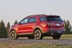 2013 Ford Explorer Sport 4WD in Ruby Red Metallic Tinted Clearcoat - Static Rear Left View