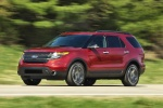 2013 Ford Explorer Sport 4WD in Ruby Red Metallic Tinted Clearcoat - Driving Front Left Three-quarter View