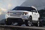 2013 Ford Explorer Limited 4WD in White Suede - Static Front Left View