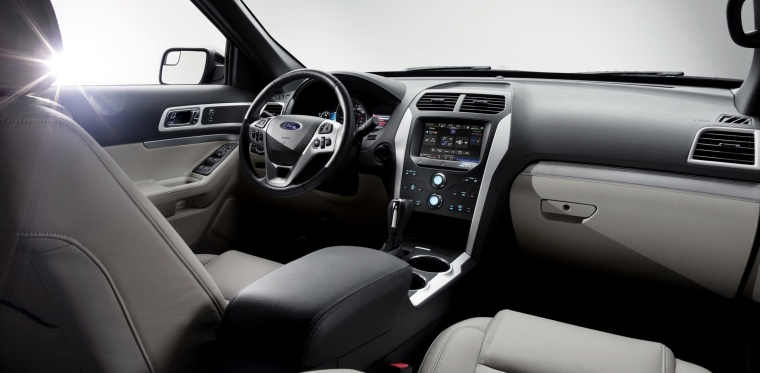 2015 Ford Explorer Limited 4wd Interior In Medium Light Stone Color Picture Image