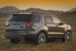 Picture of a 2016 Ford Explorer Sport 4WD in Magnetic Metallic from a rear right three-quarter perspective