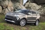 Picture of a 2016 Ford Explorer Platinum 4WD in Magnetic Metallic from a front left three-quarter perspective
