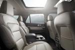 Picture of a 2016 Ford Explorer Platinum 4WD's Rear Seats in Medium Soft Ceramic