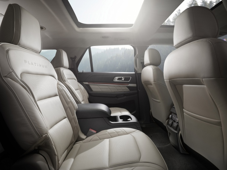 2017 Ford Explorer Platinum 4WD Rear Seats Picture