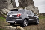 2017 Ford Explorer Platinum 4WD in Magnetic Metallic - Static Rear Right Three-quarter View
