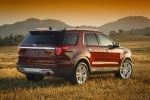 Picture of a 2017 Ford Explorer Limited 4WD from a rear right three-quarter perspective