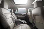2017 Ford Explorer Platinum 4WD Rear Seats in Medium Soft Ceramic