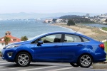 2011 Ford Fiesta Sedan in Blue Flame Metallic - Static Side View