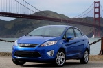 2012 Ford Fiesta Sedan in Blue Flame Metallic - Static Front Left View