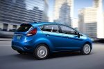 2012 Ford Fiesta Hatchback in Blue Flame Metallic - Driving Rear Right Three-quarter View