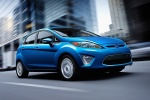 2012 Ford Fiesta Hatchback in Blue Flame Metallic - Driving Front Right Three-quarter View