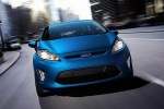2012 Ford Fiesta Hatchback in Blue Flame Metallic - Driving Frontal View