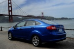 2012 Ford Fiesta Sedan in Blue Flame Metallic - Static Rear Left View