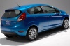2015 Ford Fiesta Hatchback Titanium in Blue Candy Metallic Tinted Clearcoat from a rear right view