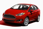 2015 Ford Fiesta Sedan Titanium in Race Red - Static Front Left Three-quarter View