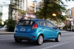 2015 Ford Fiesta Hatchback Titanium in Blue Candy Metallic Tinted Clearcoat - Driving Rear Right View